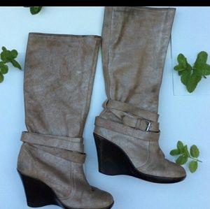 High rise CROC boots